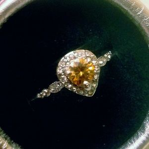 Jewelry - Champagne Moissanite Ring Size 10